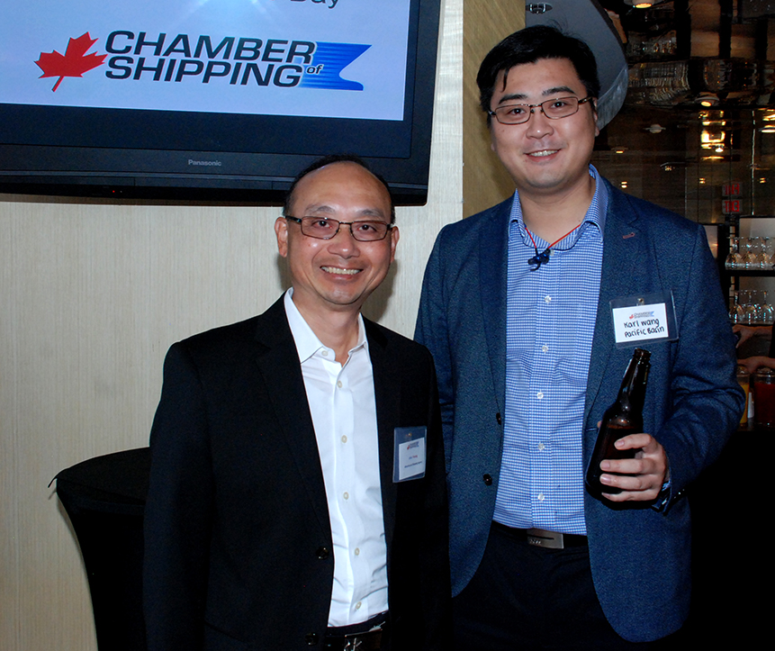 1. John Yeung (Wheelhouse Shipping) with Karl Wang (Pacific Basin).
