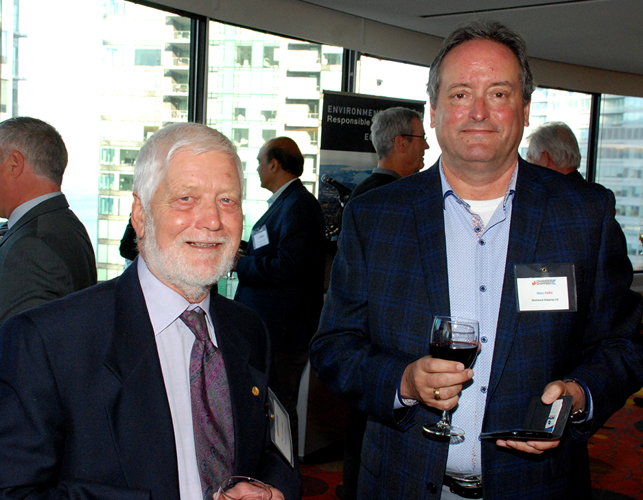 2. Former COSBC President Ron Cartwright with Marc Fellis (Westward Shipping Ltd.).